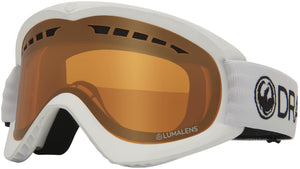 Dragon DX White Lumalens Amber Goggle Profile View
