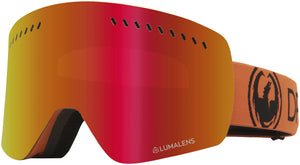 Dragon NFXs Tangerine Lumalens Red Ion Goggle Profile View