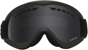 Dragon DX Blackout Lumalens Dark Smoke Grey Lens Goggle Front Lens View