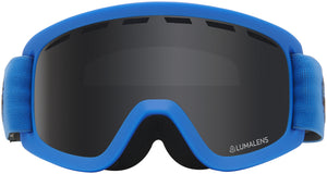 Dragon LILd Soft Blue Lumalens Dark Smoke Youth Child Goggle Grey Lens Front View