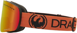 Dragon NFXs Tangerine Lumalens Red Ion Goggle Side Band View