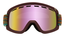 Pink and Yellow Lens, Maroon Frame, Colorful Straps Front View