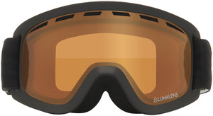 Dragon LILd Black Lumalens Amber Youth Child Goggle Amber Lens Front View