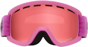 Dragon LILd Soft Pink Lumalens Rose Youth Child Goggle Rose Lens Front View
