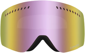 Dragon NFXs Rose LL Pink Ion Goggle Front Lens View