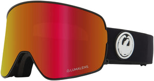 Dragon NFX2 Goggle Black LL Red Ion Profile View
