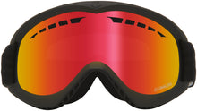 Dragon DX Black Lumalens Red Ion Goggle Front Lens View