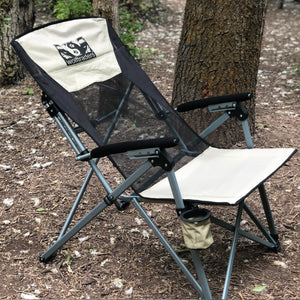 Laybak Reclining High Mesh Back Folding Camp Chair