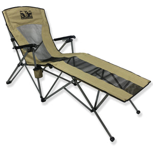 LayZWolf Hi-Bak Reclining Lounger Camp Chair