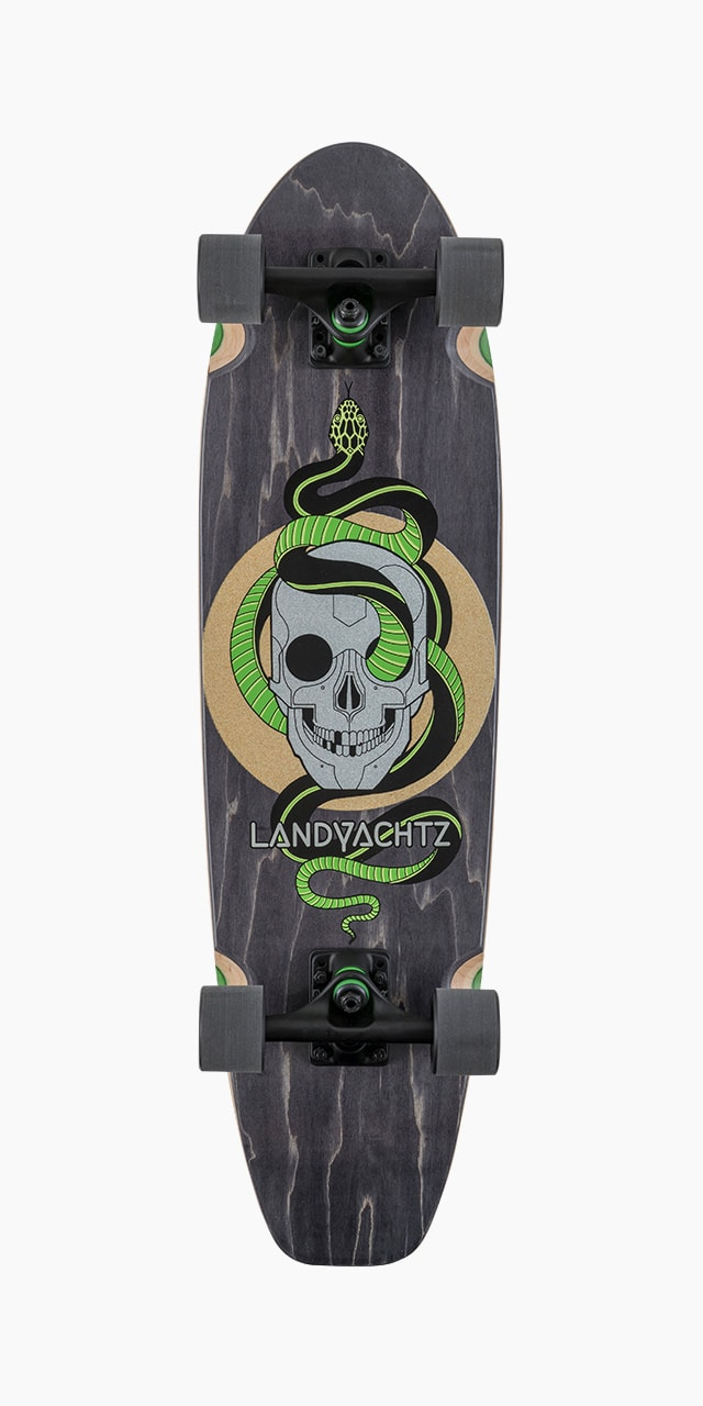 Dugout Grey Skull Longboard Complete