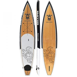 "Gulliver 12'6"" Bamboo Italian Wood Design Premier Tourer SUP Paddleboard with Bag and Fin"