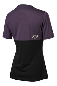 Fox Racing Girls Womans Ranger Dri Release MTB Mountain Biking Jersey Dark Purple Back