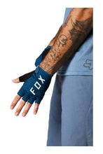 Fox Racing Men's Ranger Gel Short Half Finger Padded MTB Mountain Bike Gloves Matte Blue Top