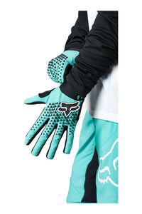 Fox Racing Woman's Defend MTB Mountain Bike Gloves Teal Blue Top
