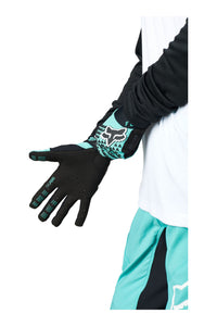Fox Racing Ladies Defend MTB Mountain Bike Gloves Teal Blue Bottom Palm