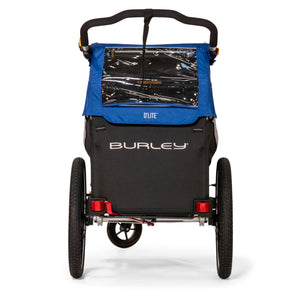 Rear view Burley D'Lite Single bike trailer