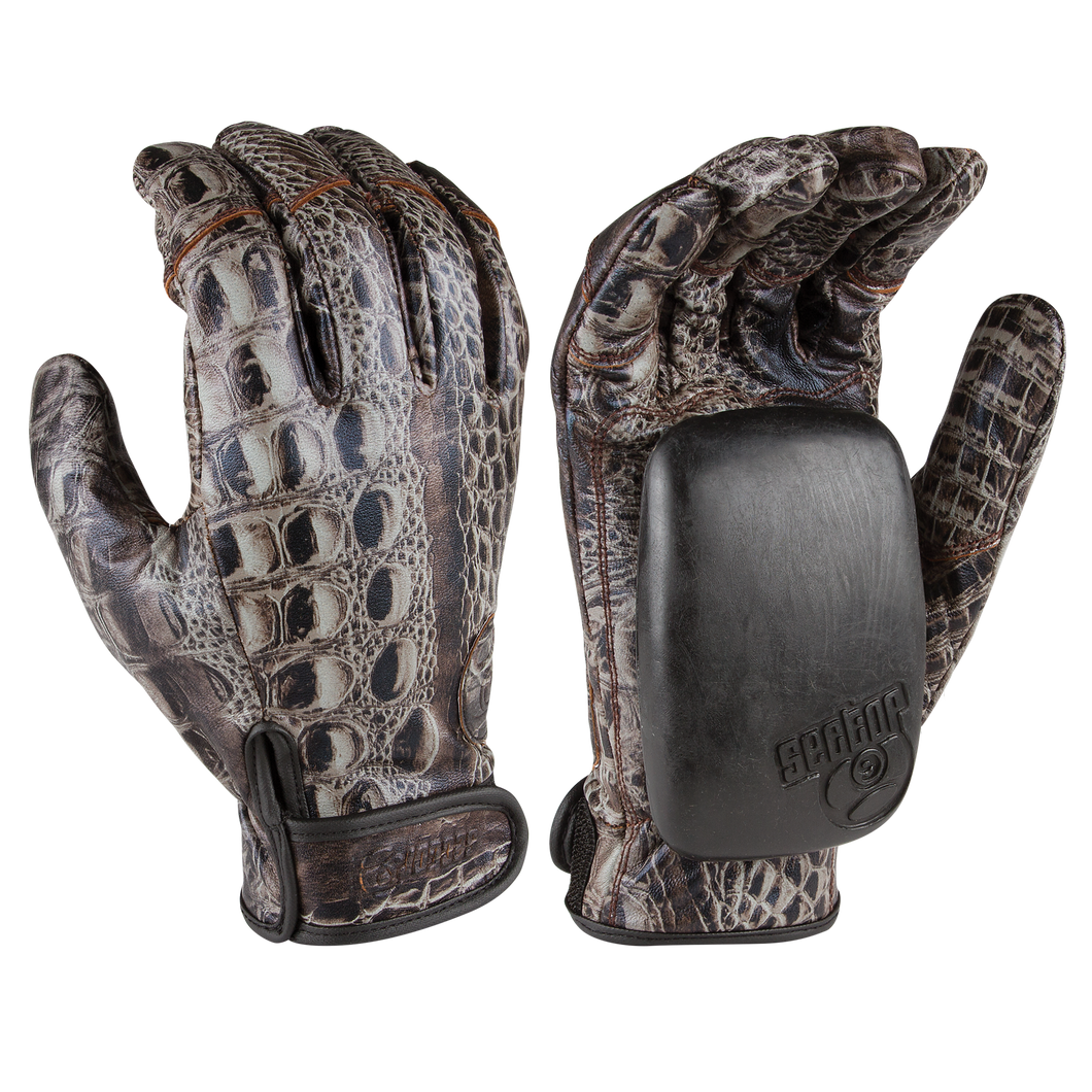 Driver II Gloves - 100% Perforated Leather W/ Palm Pucks Jungle