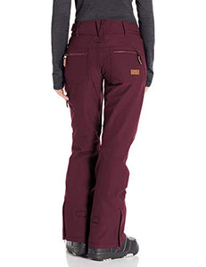 Roxy Cabin Women's Snow Pant Grape wine Back view