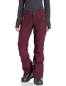 Roxy Cabin Women's Snow Pant Grape wine Model front and main view