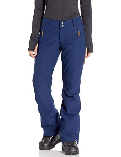 Roxy Cabin Women's Snow Pant Medieval Blue Front modeled view