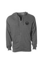 BAND TOGETHER FULL ZIP HOODIE F16 HEATHER GUNMETAL GREY