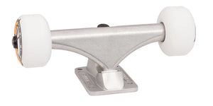 140 mm silver bullet trucks 53mm oj from concentrate wheels completer assembly front angle 1