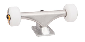 140 mm silver bullet trucks 53mm oj from concentrate wheels completer assembly front angle 2