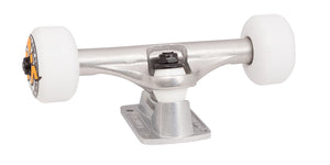 140 mm silver bullet trucks 53mm oj from concentrate wheels completer assembly back angle