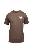 Dragon Icon Chest Tee Men's Short Sleeve T-Shirt Brown Heather