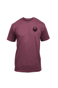 Dragon Icon Chest Tee Men's Short Sleeve T-Shirt Burgundy Heather