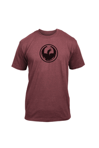 Dragon Alliance Men's Icon Tee 2 SS T-Shirt Burgundy Heather Red