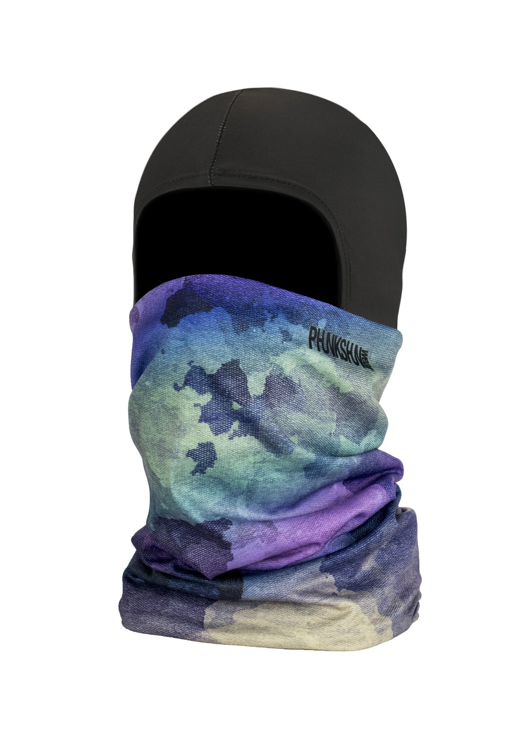 Function Wear Double dual layer ballerclava balaclava full face mask medium weight urban multi blue purple green camouflage