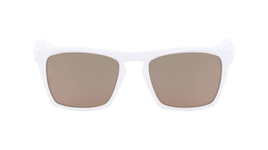 Dragon Drac LL Ion Matte White LL Rose Ion Sunglasses Mirror Lens View