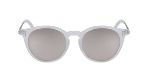 DRAGON MILKY CRYSTAL/LL SILVER ION LL SUNGLASSES FRONT PROFILE