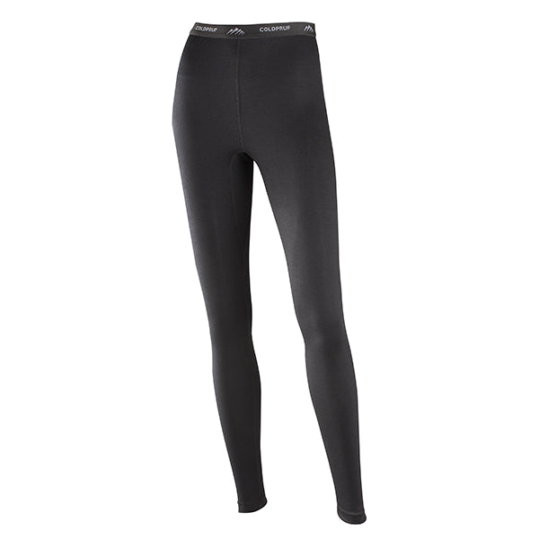 Coldpruf Women's Classic Merino Wool Base Layer Bottom Black
