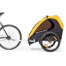 Burley Bee Bike Trailer Attached to Bike Rear Axle