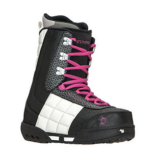 Topaz Women's Snowboard Boot, Black/White Size 6.0
