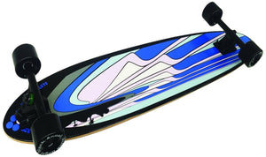 "Black Angel 40"" Pintail Longboard with Customizable Wheel Options"