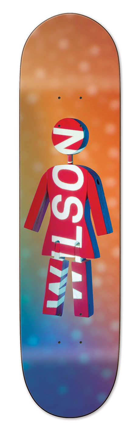 WILSON FUTURE PROJECTIONS 8 INCH SKATEBOARD DECK