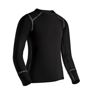 Coldpruf Youth Quest Performance Base Layer Top Black