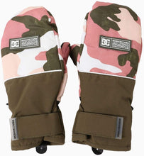 DC Shoes, woman's mitt, 10k waterproofing, 5 finger insolation, retro rose camo