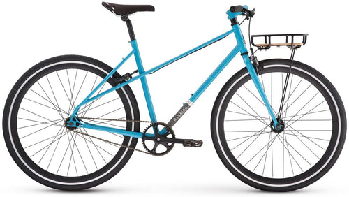 Raleigh USA Carlton Mixte Single Speed Urban Commuter City Bike Blue with Basket