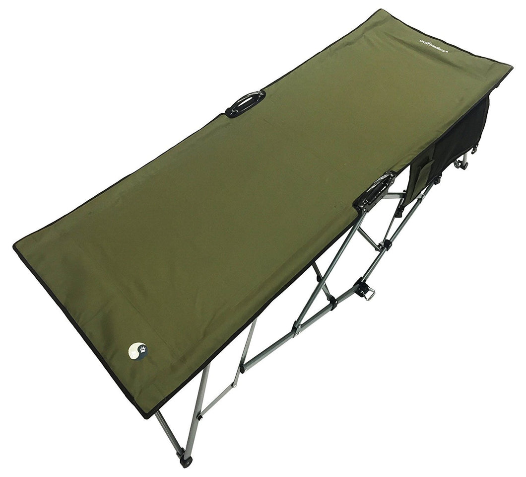Turbocot Premium Deluxe Folding Hammock Style Cot, Olive Green