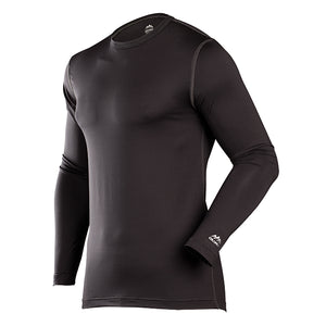 Premium Performance Men's Base Layer Crewneck Top Black