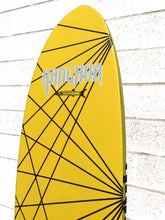 Kanghua 8' Premium Carbon & Innegra Surf SUP Paddleboard with Leash & Fins, Yellow/Natural