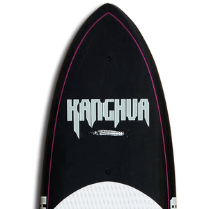Kanghua 8' Premium Carbon & Innegra Surf SUP Paddleboard with Leash & Fins, Purple/Black