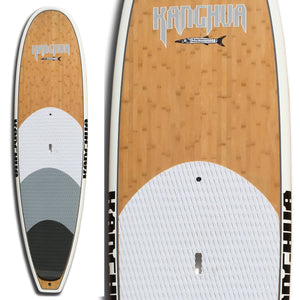 Kanghua 11' Full Bamboo Premium SUP Paddleboard with Fins & Leash
