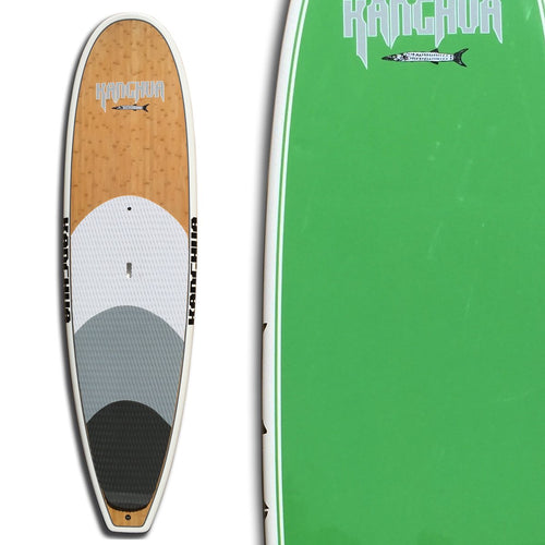Kanghua 11' Bamboo All Around Premium SUP Paddleboard with Fins & Leash