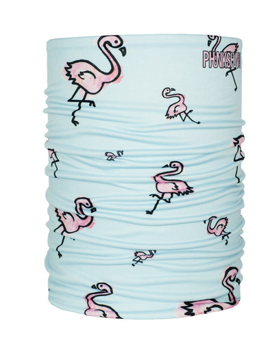 Phunkshun Double Tube Rachel Block Artist Series Layer Face Mask Flamingos