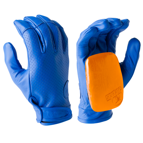 Driver II Gloves - 100% Perforated Leather W/ Palm Pucks LT Blue